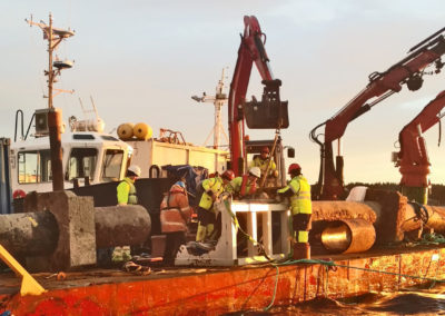 EB_marine_PE_ledning_ror_pipeline_dykker_yrkesdykker_arbeidsdykker_reparasjon_repair_leak_lekkasje_vannledning_trykkledning_710mm_karmoy
